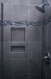 bathroom decoration calm gray shower wall idea with