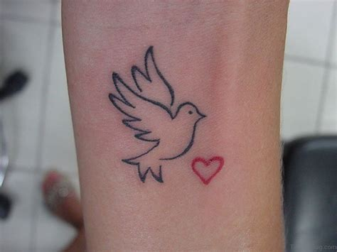 heart and bird tattoo designs 49 creative dove tattoos on wrist