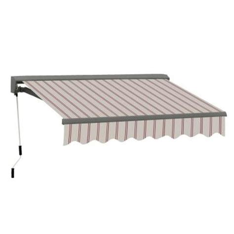 home depot awning retractable advaning 10 ft classic c series semi cassette electric w