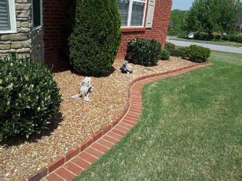 brick garden bed edging brick edging and rock flower bed home decor outdoor