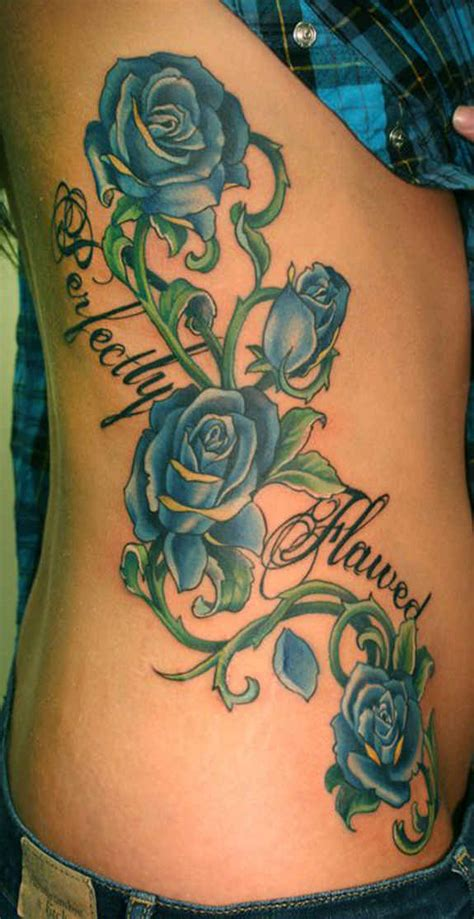 blue roses tattoo 37 exclusive blue tattoos and designs