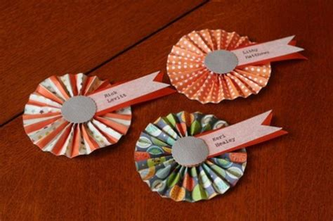 How To Make A Paper Rosette - wedding details cards and place cards part 2