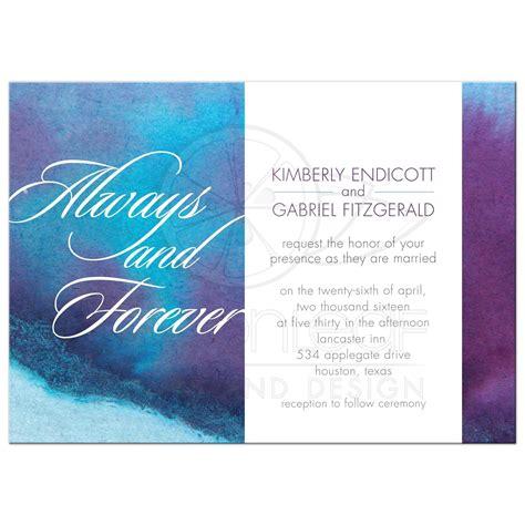 Purple And Blue Wedding Invitations
