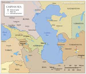middle east map caspian sea map of the caspian sea nations project
