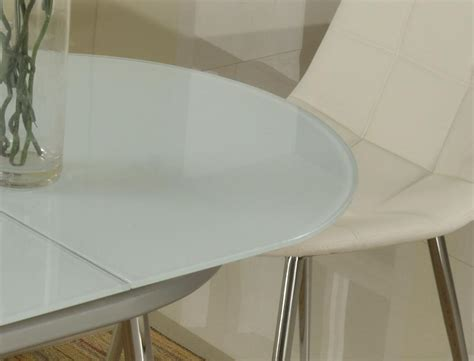 Frosted Glass Dining Room Table by Extendable Oval Frosted Glass Top Modern Dinner Table Set