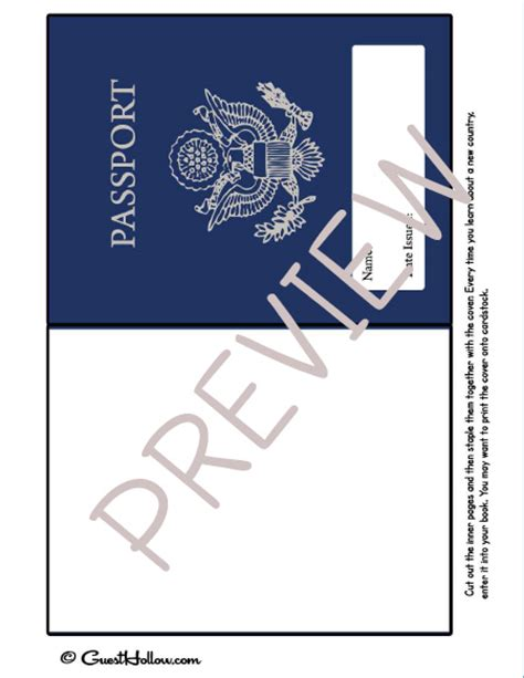 pretend passport template printable pretend passport welcome to the guest hollow