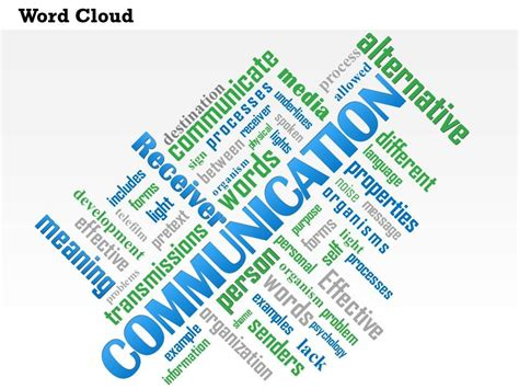 0614 Communication Word Cloud Powerpoint Slide Template Powerpoint Slide Template Word Powerpoint Templates