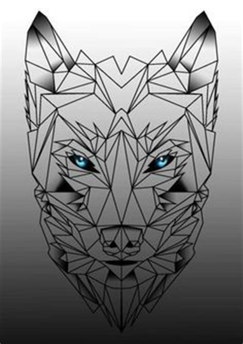 geometric tattoo phoenix middle of chest mens geometric wolf half and half tattoo