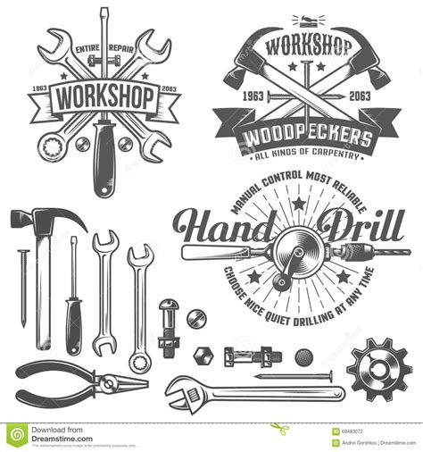 werkstatt logo workshop logo stock vector illustration of shop st
