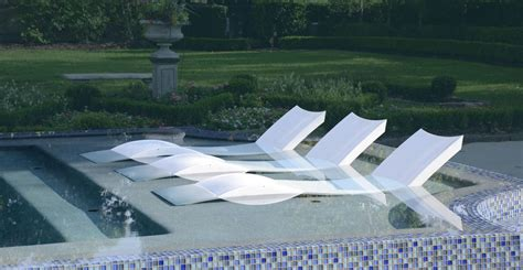 swimming pool deck lounge chairs ledge lounger how cool is this a lounge chair designed