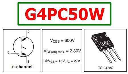 transistor g4pc50w datasheet g4pc50w datasheet vces 600v igbt transistor