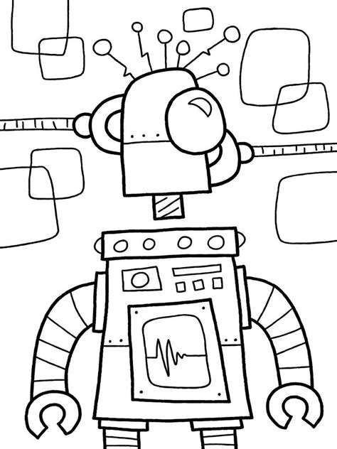 Robot Coloring Pages Coloringsuite Com Robot Coloring Pages Free