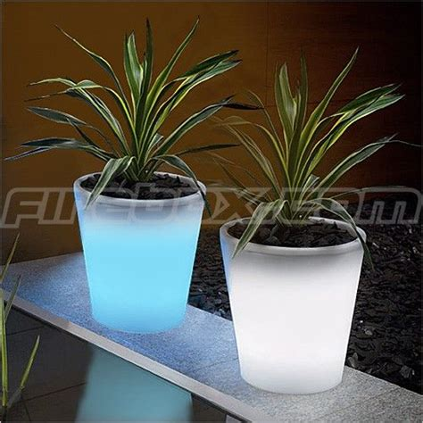 Glow In Planters by Glow In The Flower Pots Home Interior Design
