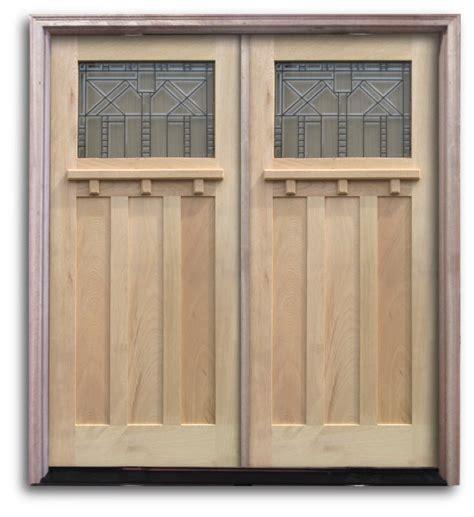 Exterior Door Units Pre Hung Oak Exterior Door Unit Craftsman Top Lite