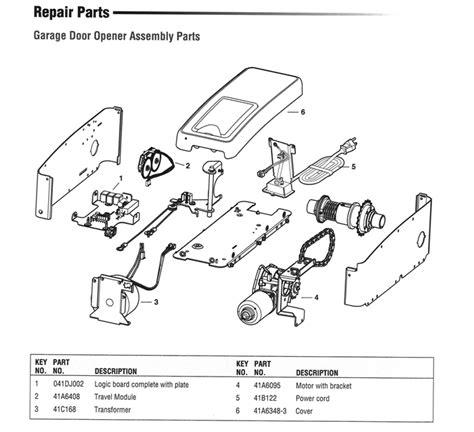 Garage Door Opener Parts On Replacement Parts For Genie Genie Garage Door Opener Parts Diagram