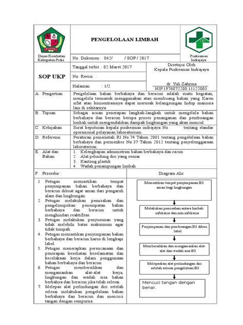 Pengelolaan Limbah Bahan Berbahaya Beracun B3 Yuli Original sop limbah