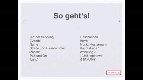 Brief In Schweiz Adresse Briefe Richtig Adressieren