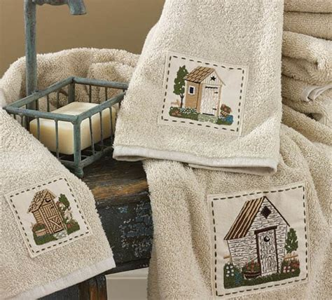 Outhouse Shower Curtain Outhouse Bath Towels