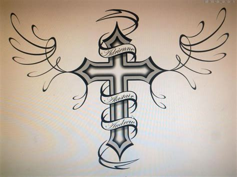 cross name tattoo 3d womentattoo hd cross designs with words