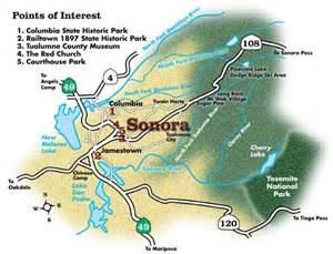 map of sonora california the map of sonora california