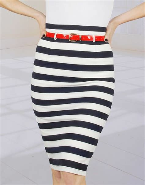 Navy Stripes Skirt 17 best images about striped pencil skirt on