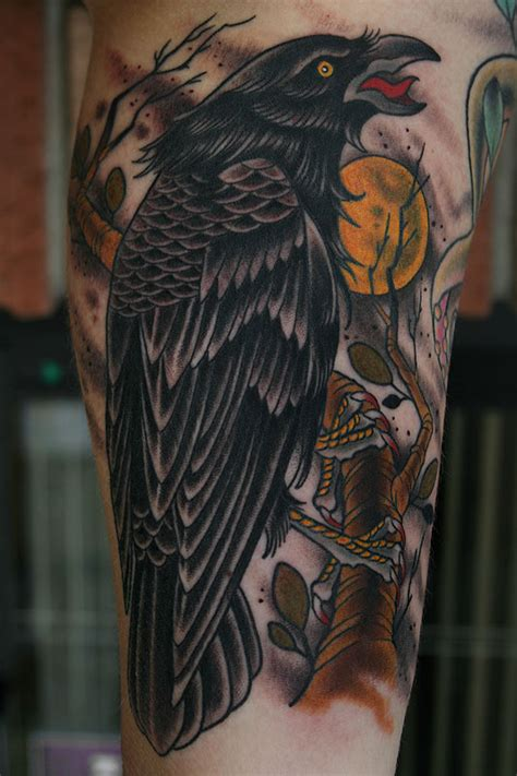 tattoos by stefan johnsson crow