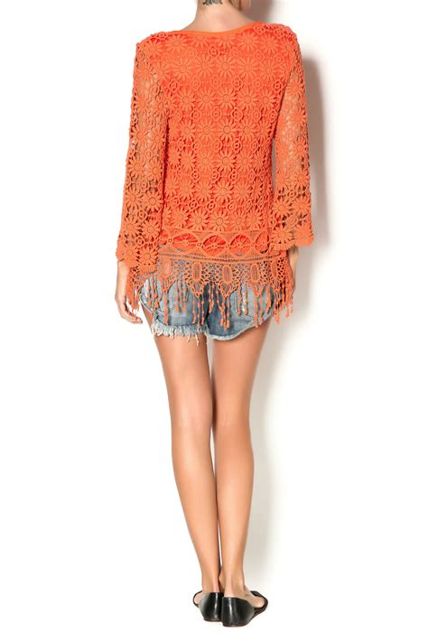 Origami With Lined Paper - origami lined crochet tunic top from skaneateles by cate