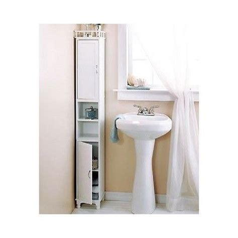 Slim White Bathroom Cabinet Storage Cabinet White Slim Bathroom Kitchen Dining Living