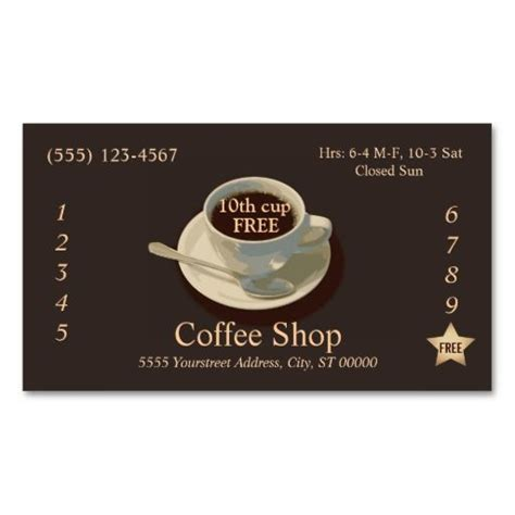 Coffee Punch Card Template by Coffee Loyalty Punch Card Business Card Business Card