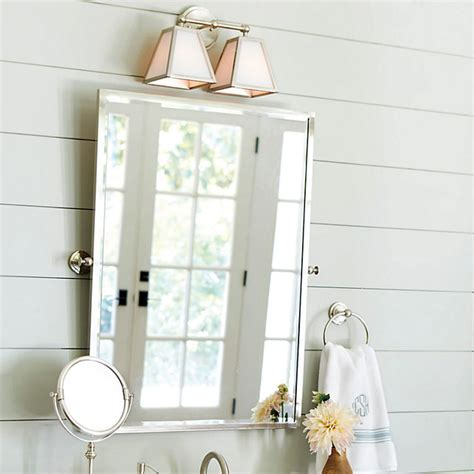 Pivoting Bathroom Mirror Amelie Rectangular Pivot Mirror Traditional Bathroom Mirrors By Ballard Designs