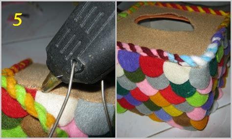 Lem Tembak Untuk Kain Flanel Tempat Tissue Recycle Flanel Rumah Craft