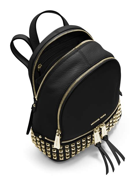 Michael Kors Rhea Backpack Mini 2 lyst michael michael kors rhea mini studded leather backpack in black
