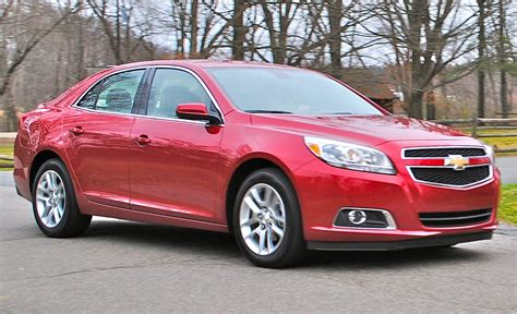 review  chevrolet malibu eco front  action view