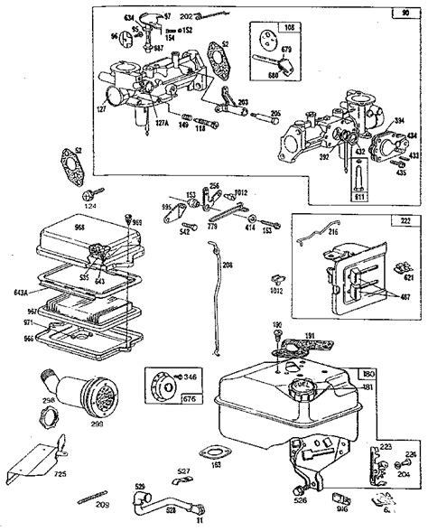 briggs and stratton 158cc carburetor diagram briggs and stratton carburetor diagram 12 5 hp wiring info