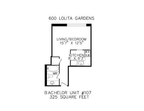 325 square feet floorplans for apartments in mississauga at 600 620 lolita gardens cawthra dundas