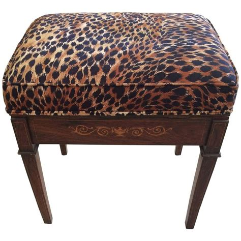 animal print bench classic mahogany little bench with animal print cushion