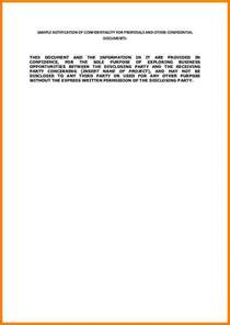 statement of confidentiality template 11 statement of confidentiality template statement