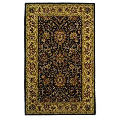 5 Ft Area Rugs safavieh antiquity black 5 ft x 8 ft area rug at249b 5 the home depot