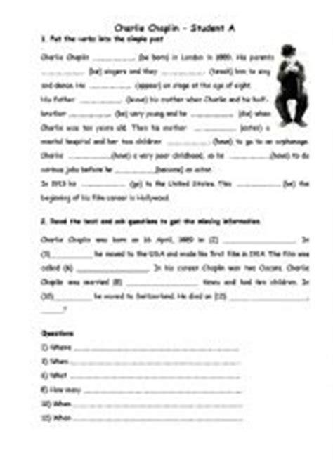 biography charlie chaplin english english worksheets charlie chaplin 180 s biography