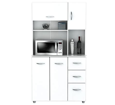 Inval America 4 Door Storage Cabinet with Microwave Cart