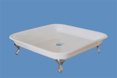 claw foot shower base cast iron enameled shower trays