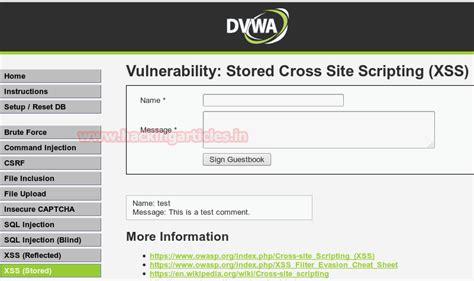 dvwa tutorial xss stored xss exploitation in dvwa beginner guide