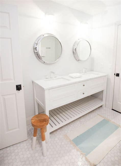 Nautical Mirror Bathroom Residential Jen Langston Interiors Coastal Inspired Interiors Nautical