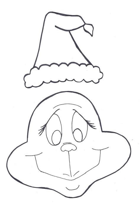 free coloring pages of grinch mask