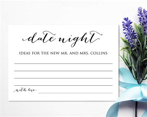 bridal shower insert card template date ideas card template bridal shower