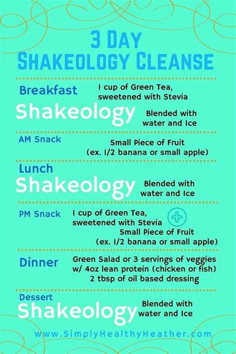 Simple 3 Day Detox Diet by Printable Pdf For The 3 Day Shakeology Cleanse A