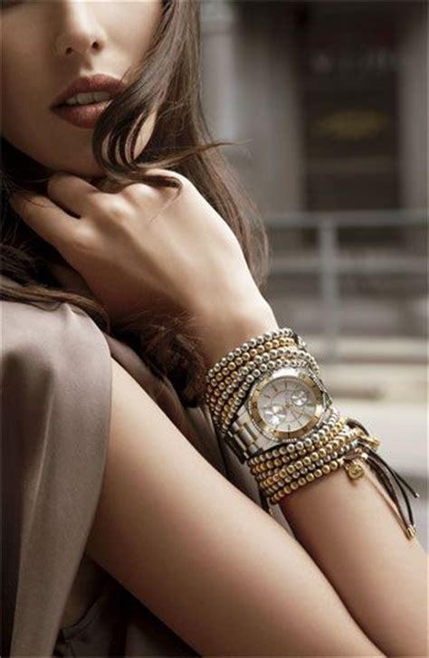 stylish   stacked bracelets celebrity