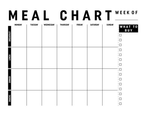 printable meal planner chart 580 best images about printables on pinterest scrapbook