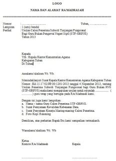 contoh layout fungsional contoh surat usulan penerima tunjangan fungsional guru