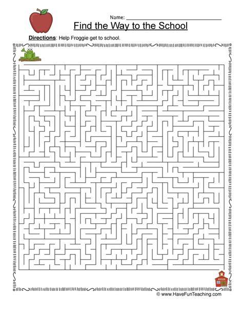 maze worksheet search maze resources